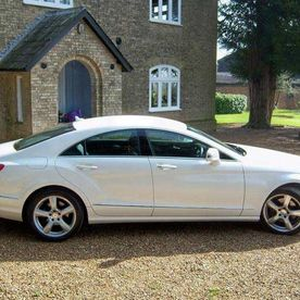 Mercedes CLS AMG in Pearlescent Candy White